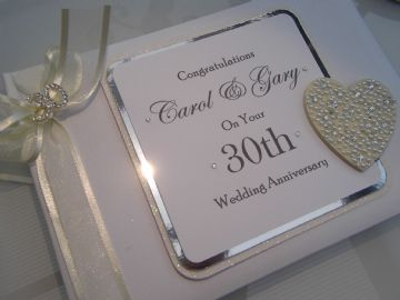30th Wedding Anniversary Guest Book Personalised